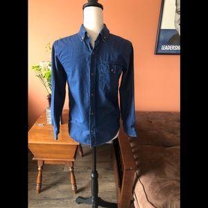 OLD NAVY boys blue button down shirt